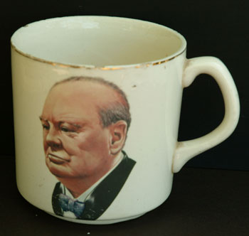 Large wartime mug with handle. Winston S. Churchill.