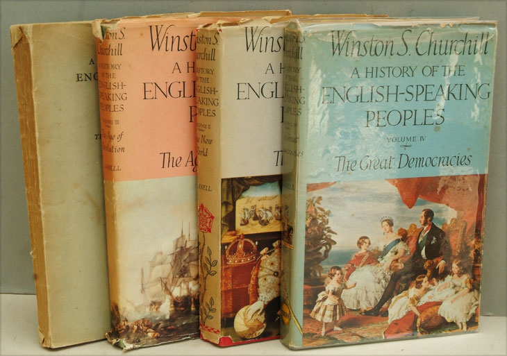 A History of the English-Speaking Peoples, 4 vols. PROOF COPIES. Winston S. Churchill.