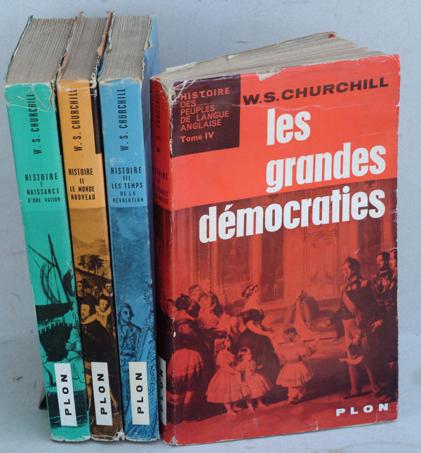 Histoire (des Peuples de Langue Anglaise) being the French translation of A History of the English-speaking Peoples in 4 volumes. Winston S. Churchill.