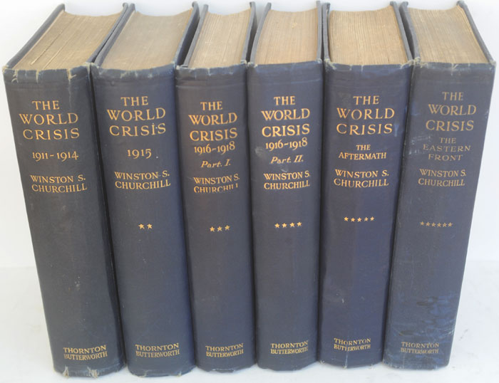 The World Crisis, full set of six (SIGNED). Winston S. Churchill.