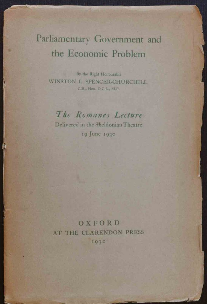 Parliamentary Government & the Economic Problem. Winston S. Churchill.