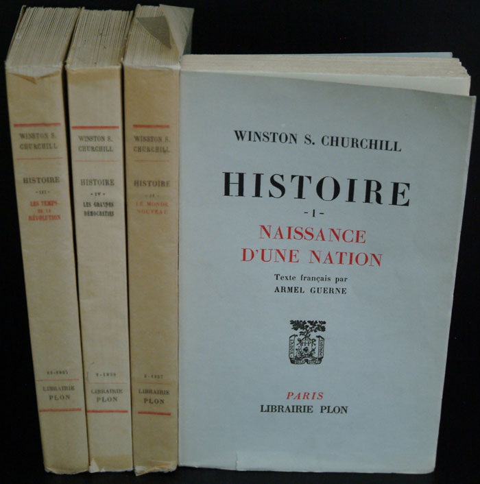 Histoire (des Peuples de Langue Anglaise) being the French translation of HESP. Winston S. Churchill.