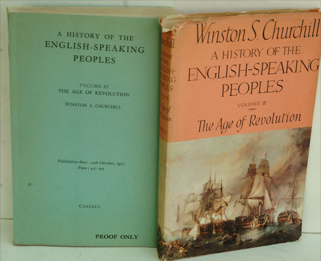 A History of the English-Speaking Peoples, Volume III PROOF copy. Winston S. Churchill.
