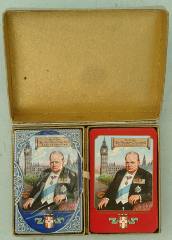 Double deck of Churchill playing cards. NA.