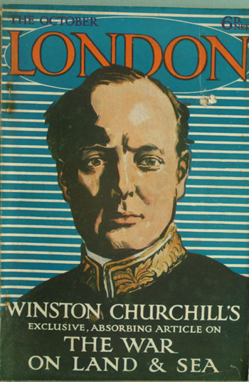Churchill aricle in October 1916 London magazine. Winston S. Churchill.