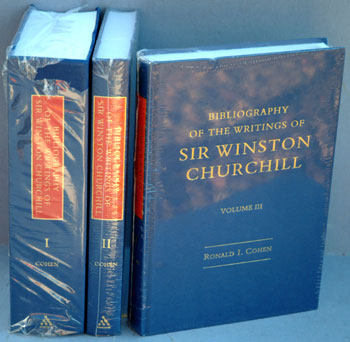 Bibliography of the Writings of Sir Winston Churchill in 3 vols. Ron Cohen.