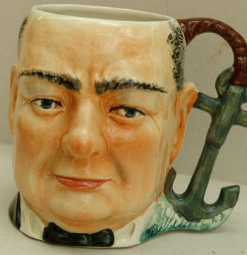 Large jug by Shorter & Sons from 1939. Winston S. Churchill.
