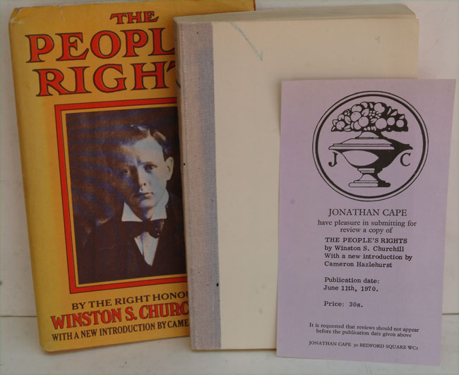 The People's Rights PROOF COPY. Winston S. Churchill.