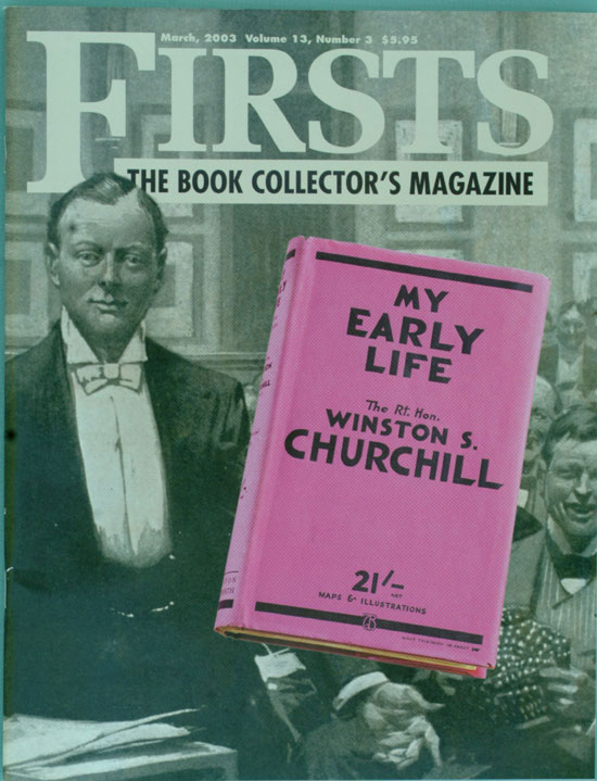 Collecting Winston Churchill feature in FIRSTS magazine. Weber. Mark.