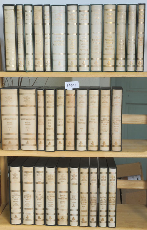 THE COLLECTED WORKS OF SIR WINSTON CHURCHILL (34 vols.). Winston S. Churchill.