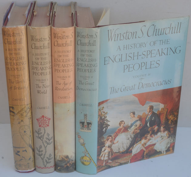 A History of the English-Speaking Peoples, 4 vols. Winston S. Churchill.
