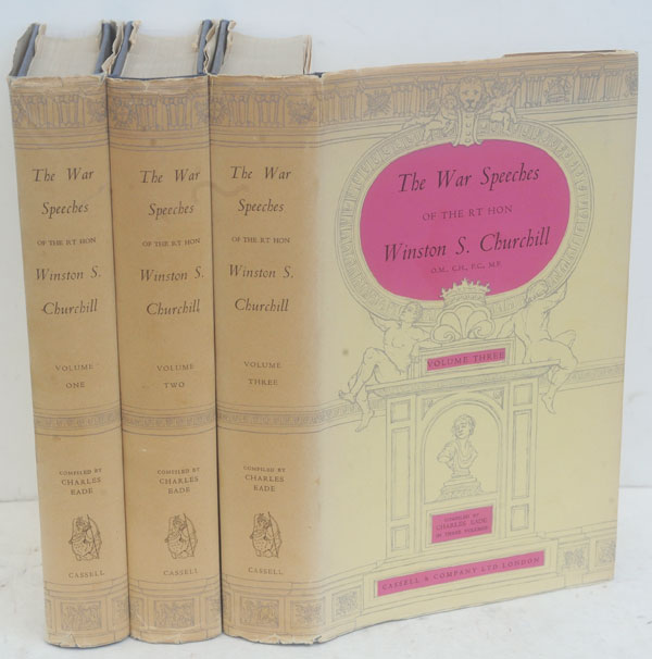 The War Speeches of the Rt. Hon. Winston S. Churchill, 3 volumes. Winston S. Churchill.