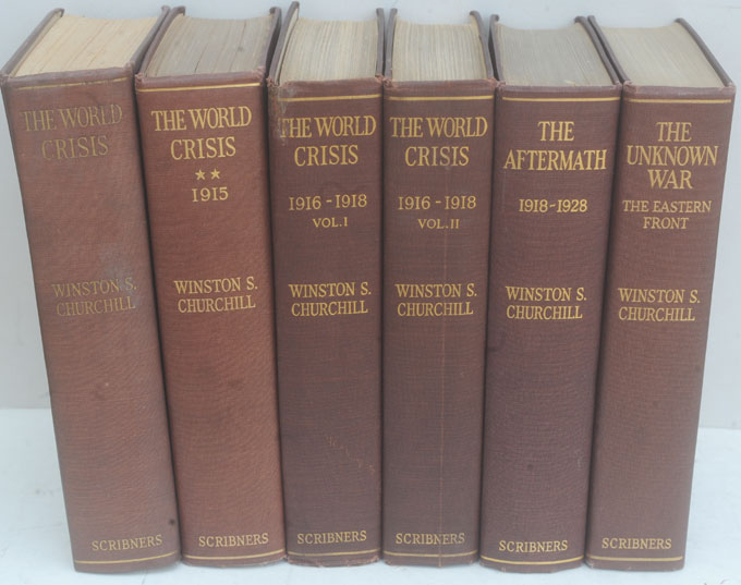 The World Crisis, full set of six. Winston S. Churchill.