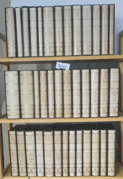 THE COLLECTED WORKS OF SIR WINSTON CHURCHILL, and THE COLLECTED ESSAYS (38 vols). Winston S. Churchill.