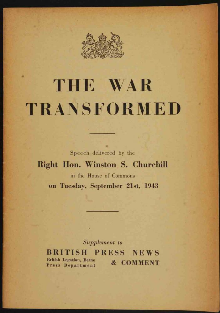 The War Transformed. Winston S. Churchill.