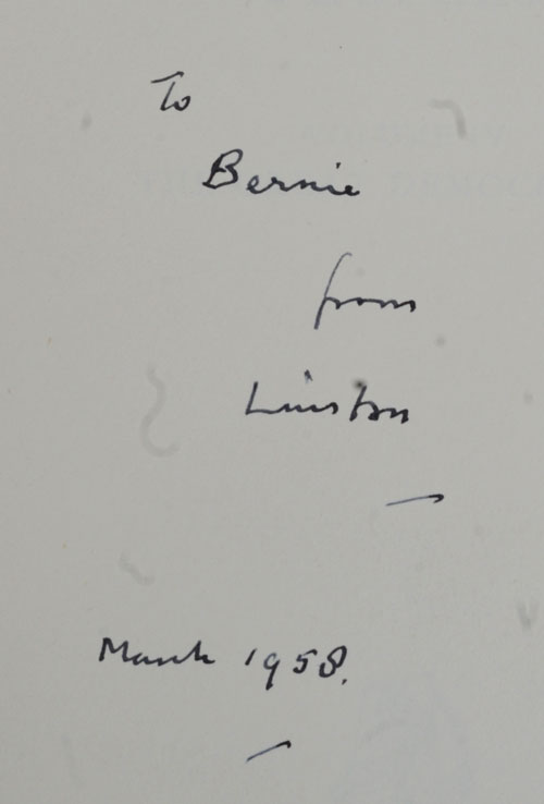 A History of the English-Speaking Peoples, Vol IV inscribed to Bernard Baruch. Winston S. Churchill.