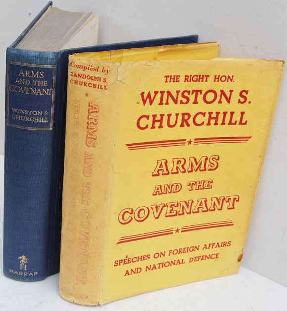 Arms and the Covenant in yellow DJ. Winston S. Churchill.