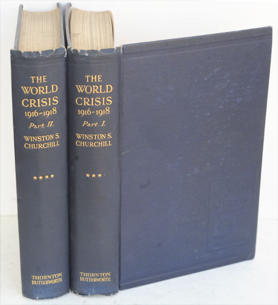 The World Crisis 1916-1918 parts I-II (Inscribed to Canadian PM Arthur Meighen). Winston S. Churchill.