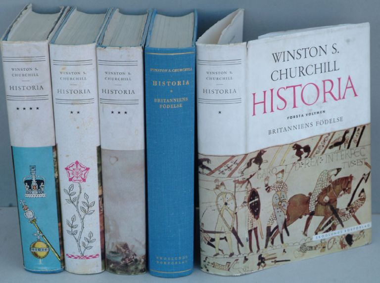 Historia ( Swedish translation of A History of the English-speaking Peoples in 4 volumes.). Winston S. Churchill.