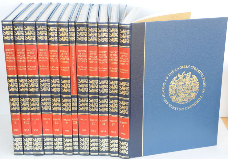 A History of the English-speaking Peoples, part work in deluxe binding 12 vols. Winston S. Churchill.