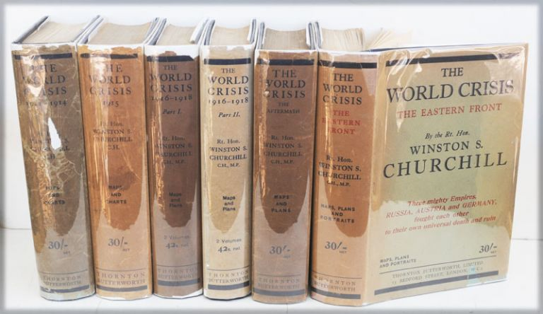 The World Crisis, full set of six in dustjackets. Winston S. Churchill.