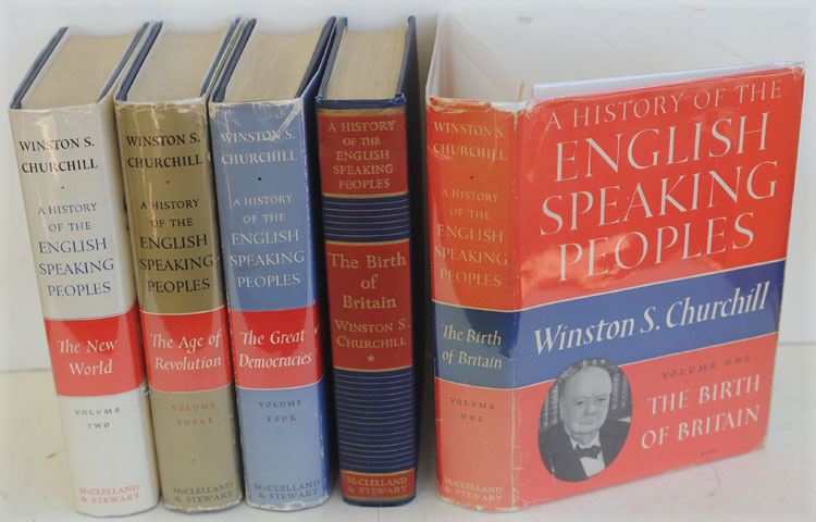 A History of the English-Speaking Peoples,Canadian Presentation edition. Winston S. Churchill.