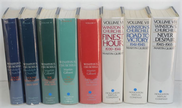 Winston S. Churchill, The Official Biography 8 vols complete (signed). Randolph S. Churchill, Martin Gilbert.