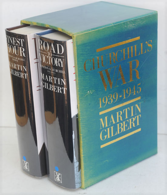 Slipcased set Churchill's War signed by Gilbert. Martin Gilbert.