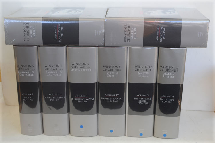 Winston S. Churchill, The Official Biography full set of 8 volumes (signed). R. S. Churchill, Martin Gilbert.