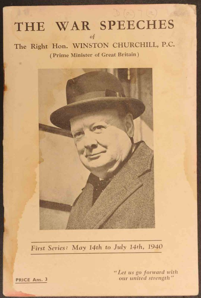 The War Speeches of Winston Churchill First Series: May 14th to July 14th, 1940. Winston S. Churchill.