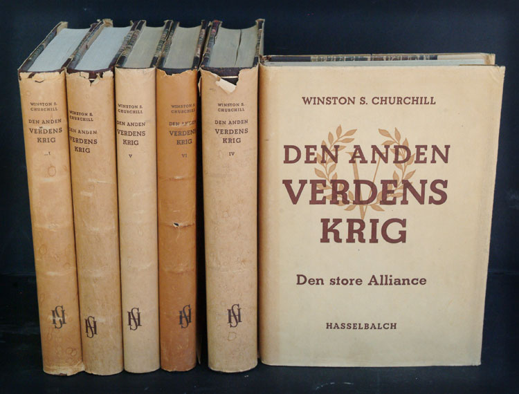 Den Anden Verdenskrig ( Second World War in Danish, 6 volumes). Winston S. Churchill.