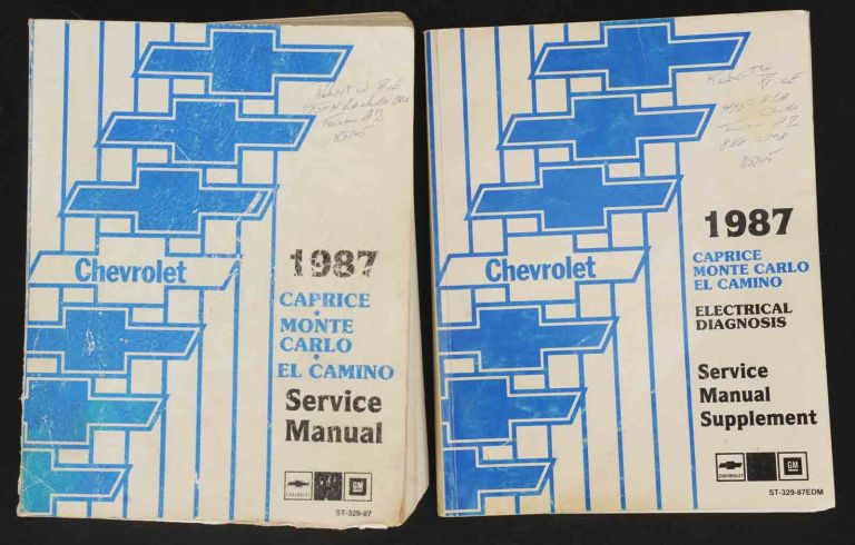 1987 Caprice & Monte Carlo Service Manual and Electrical Diagnosis Manual. General Motors.