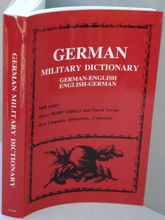 German Military Dictionary. anon.