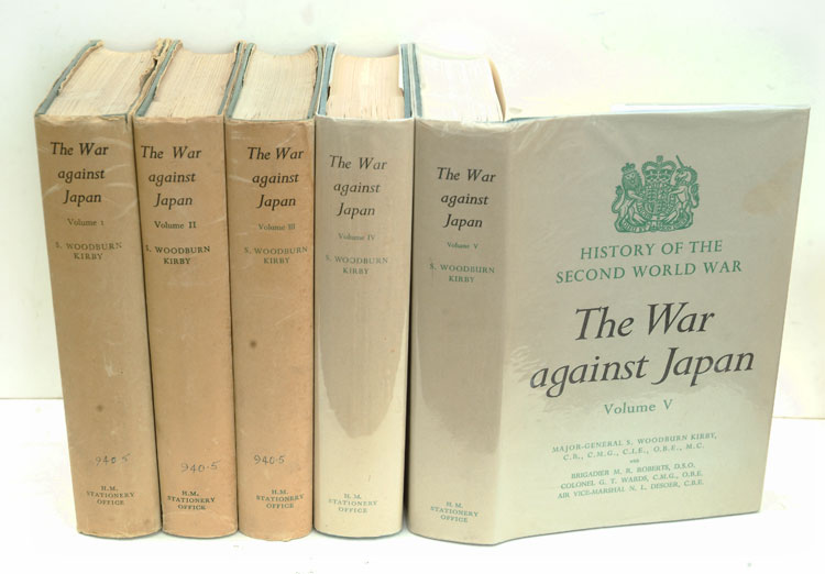 The War Against Japan complete set of 5 volumes. S. Woodburn Kirby.