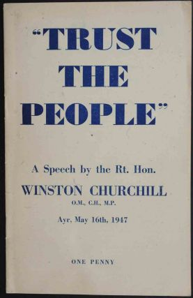 Speech at the mass meeting at the Winter Gardens 5 Oct 1946. Winston S. Churchill.