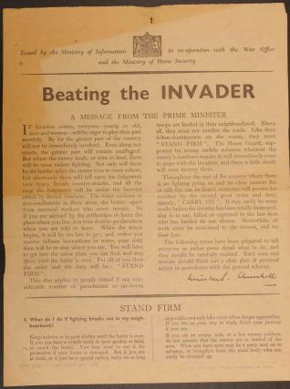 Beating the Invader. Winston S. Churchill.