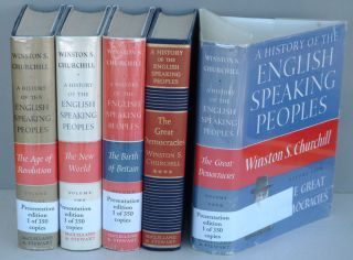 A History of the English-Speaking Peoples, 4 volumes. Winston S. Churchill