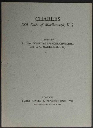 Charles IXth Duke of Marlborough. Winston Churchill, C C. Martindale