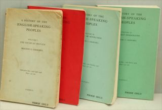 A History of the English-Speaking Peoples, 4 vols. PROOF COPIES