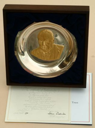 The Churchill Centenary Plate in silver. Winston S. Churchill.