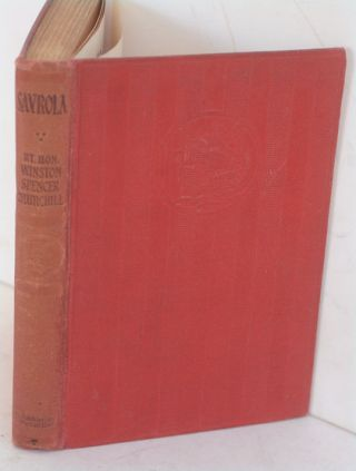 Savrola (A Tale of the Revolution in Laurania). Winson S. Churchill