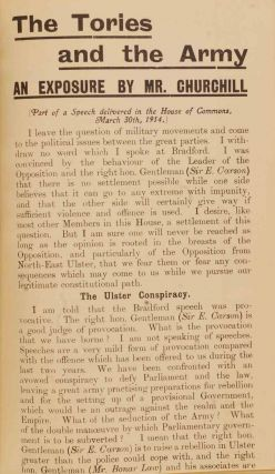 The Tories and the Army in Liberal Pamphlets 1914