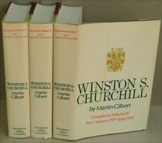 Winston S. Churchill Companion Volume IV (in 3 parts). Martin Gilbert.