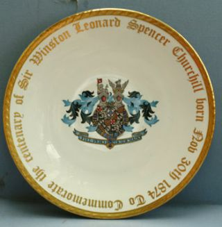 The Paragon Plate. Winston S. Churchill.
