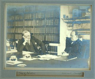 Large signed photo of Churchill and Stanley Baldwin. Winston S. Churchill