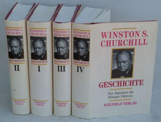 Geschichte ( German translation of A History of the English-speaking Peoples in 4 volumes.)....