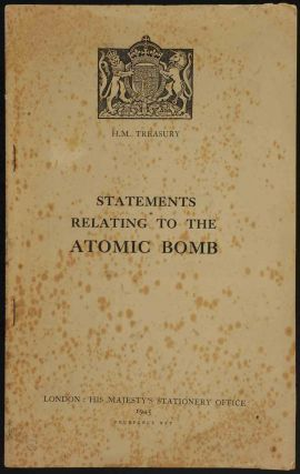 Statements relating to the Atomic Bomb. Winston S. Churchill
