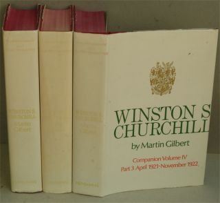 Winston S. Churchill Companion Volume IV (in 3 parts) SIGNED. Martin Gilbert.
