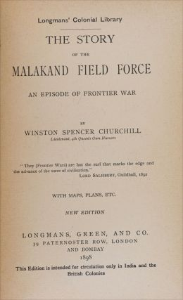 The Story of the Malakand Field Force (Colonial edition in variant binding)
