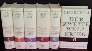 Der Zweite Weltkrieg (German translation of Second World War). Winston S. Churchill.